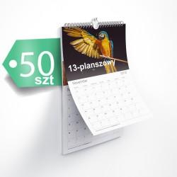 Kalendarze 13-planszowe 50szt