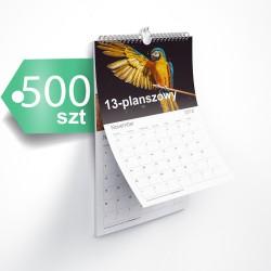 Kalendarze 13-planszowe 500szt