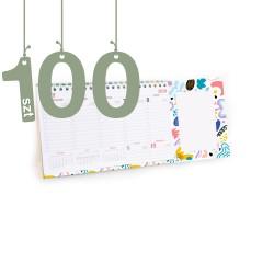 Terminarze z notesem 100szt