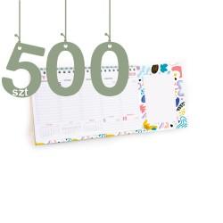 Terminarze z notesem 500szt