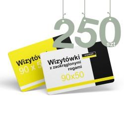 Wizytówki z zaokrąglonymi rogami 250szt