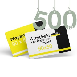 Wizytówki z zaokrąglonymi rogami 500szt