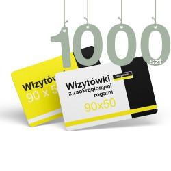 Wizytówki z zaokrąglonymi rogami 1000szt