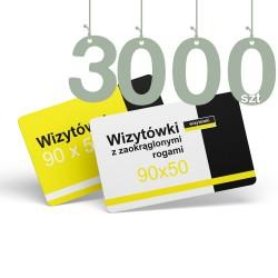 Wizytówki z zaokrąglonymi rogami 3000szt