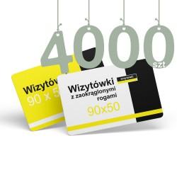 Wizytówki z zaokrąglonymi rogami 4000szt