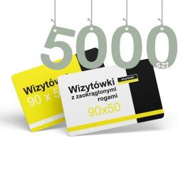 Wizytówki z zaokrąglonymi rogami 5000szt