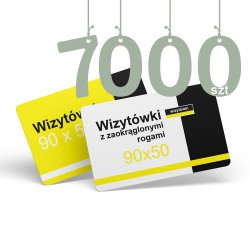 Wizytówki z zaokrąglonymi rogami 7000szt