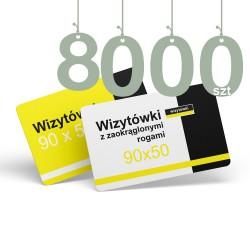 Wizytówki z zaokrąglonymi rogami 8000szt