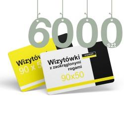 Wizytówki z zaokrąglonymi rogami 6000szt