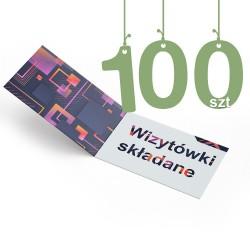 Wizytówki składane 100szt