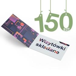 Wizytówki składane 150szt
