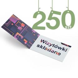 Wizytówki składane 250szt