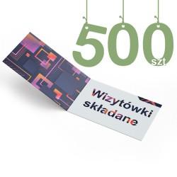 Wizytówki składane 500szt