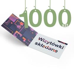 Wizytówki składane 1000szt