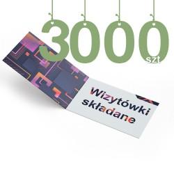 Wizytówki składane 3000szt