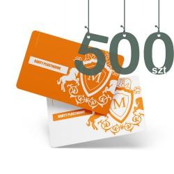 Karty plastikowe 500szt