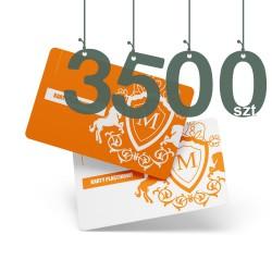 Karty plastikowe 3500szt