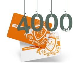 Karty plastikowe 4000szt