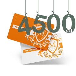 Karty plastikowe 4500szt