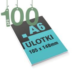 Ulotki reklamowe A6 100szt