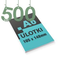 Ulotki reklamowe A6 500szt
