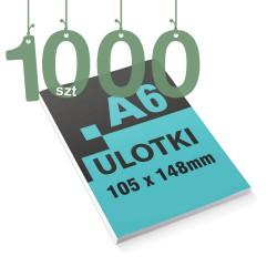 Ulotki reklamowe A6 1000szt