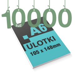 Ulotki reklamowe A6 10000szt