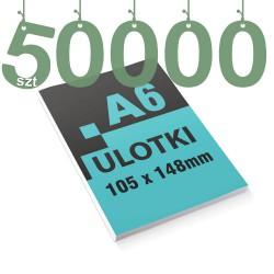 Ulotki reklamowe A6 50000szt