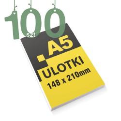Ulotki reklamowe A5 100szt