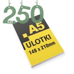Ulotki reklamowe A5 250szt