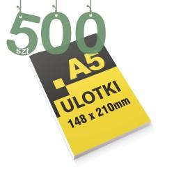 Ulotki reklamowe A5 500szt