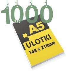 Ulotki reklamowe A5 1000szt