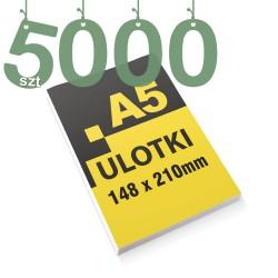 Ulotki reklamowe A5 5000szt
