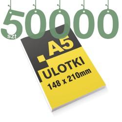 Ulotki reklamowe A5 50000szt