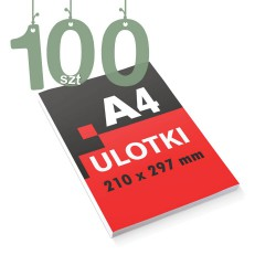 Ulotki reklamowe A4 100szt