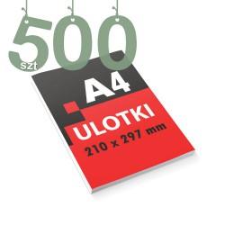 Ulotki reklamowe A4 500szt