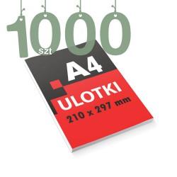 Ulotki reklamowe A4 1000szt