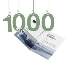 Ulotki składane na pół 1000szt