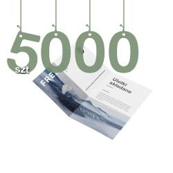 Ulotki składane na pół 5000szt