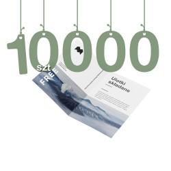 Ulotki składane na pół 10000szt