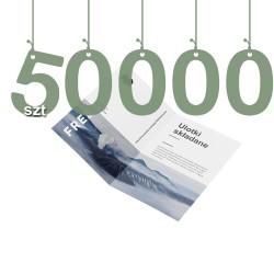 Ulotki składane na pół 50000szt