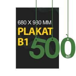 Plakaty B1 500szt