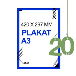 Plakaty A3 20zt