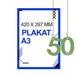 Plakaty A3 50zt