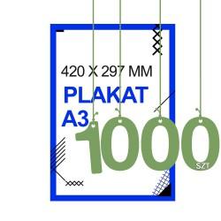 Plakaty A3 1000zt