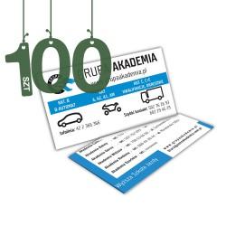 Wizytówki standardowe 100szt