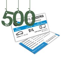 Wizytówki standardowe 500szt