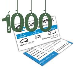 Wizytówki standardowe 1000szt