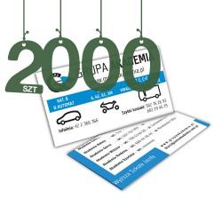 Wizytówki standardowe 2000szt