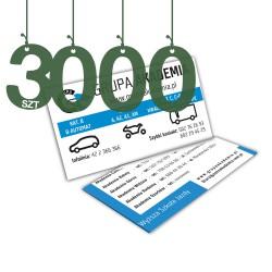 Wizytówki standardowe 3000szt